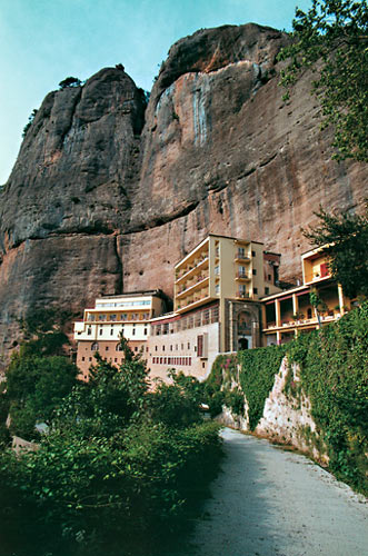 Monastery of Mega Spileon at Kalavryta, named by the Chelmos mountain rocky complex on which it is built